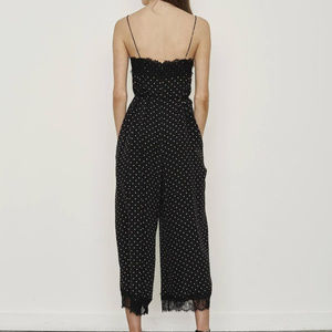 74c1719aa39f Zimmermann Dresses - Zimmermann Lace-Trimmed Dot Black Jumpsuit